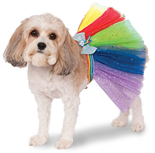 Rubies Costume My Little Pony Rainbow Dash Tutu Pet Costume, Small/Medium