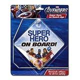 Marvel Avengers ''Super Hero on Board!'' (Baby on Board) Car Window Sign