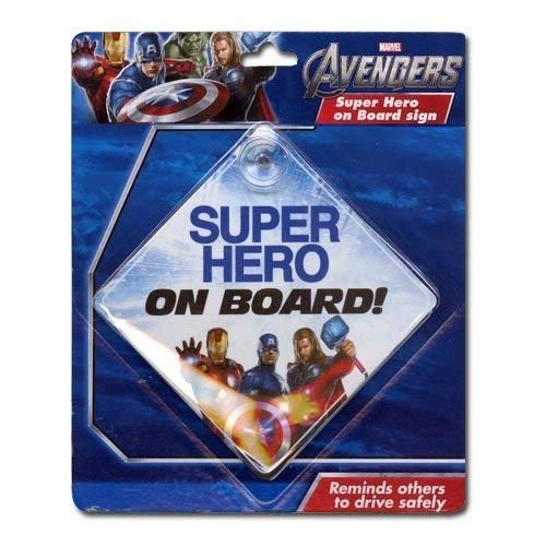 Marvel Avengers ''Super Hero on Board!'' (Baby on Board) Car Window Sign by Marvel (Image #1)