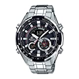 Casio Edifice Analog-Digital Black Dial Men's Watch - ERA-600D-1AVUDF (EX354)