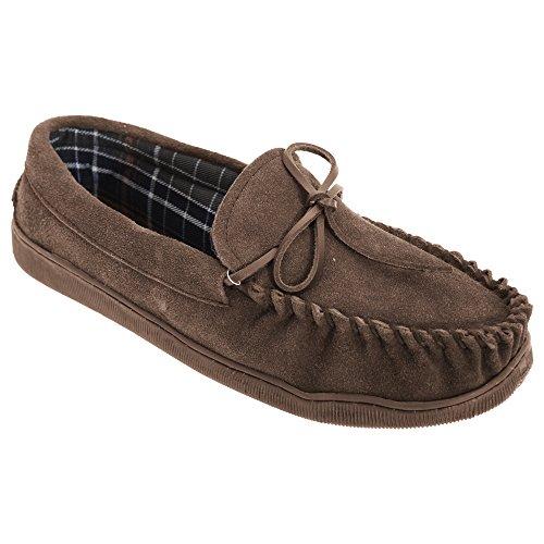 Sleepers Heren Adie Real Suede Moccasin Pantoffels Bruin