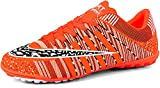 JiYe Men Soccer Shoes for Women Turf Shoe Indoor Cross Training by, Orange,43 EU=8.5US-Men/11US-Women