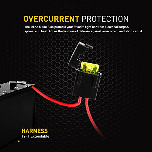 GOOACC-Off-Road-LED-Light-Bar-Wiring-Harness-Kit-12V-On-off-Waterproof-Switch-for-Vehicle-ATV-SUV-UTV-4WD-Jeep-Boat2-years-Warranty