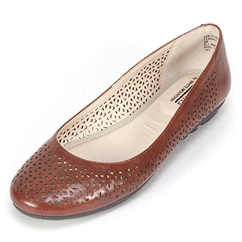 Cliffs 'BELITA' Women's Flat, Chestnut Smooth - 8 M (Chestnut Smooth Footwear)
