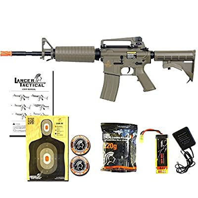 Lancer Tactical LT-06T M4A1 Airsoft Electric Gun Metal Gear FPS-400 - Dark Earth