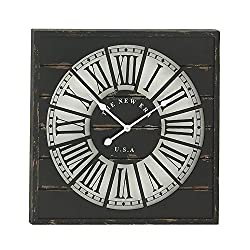 Deco 79 Stunning Wood Wall Clock, 27 D