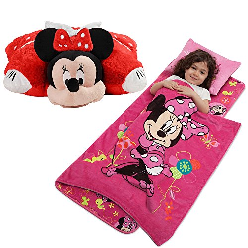Disney Aquatopia Minnie Mouse Deluxe Memory Foam Nap Mat with Blanket and Soft Plush Folding Minnie Mouse Pillow Pet - Deluxe Eeyore Plush