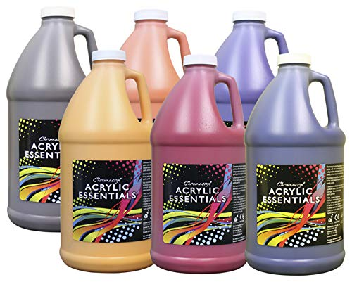 Chroma Acrylic Essentials Set, 1/2 Gallon Jugs, Assorted Secondary Colors, Set of 6 - 1296497 by Chroma