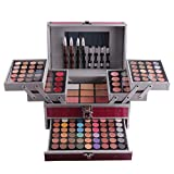 PhantomSky 132 Colors Professional Cosmetic Eyeshadow Palette Makeup Contouring Kit Beauty Set #1 - Perfect for Professional and Daily Use
