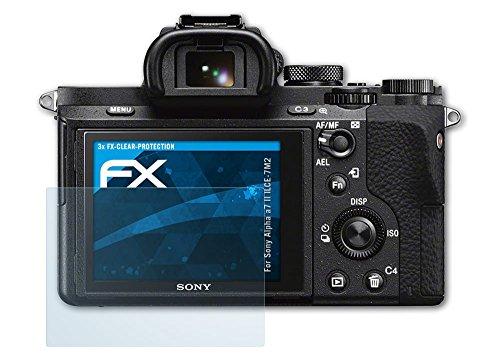 3 x atFoliX Displayschutzfolie Sony Alpha a7 II (ILCE-7M2) Schutzfolie - FX-Clear kristallklar