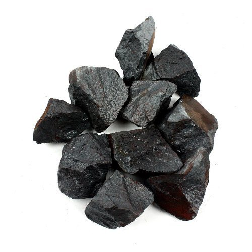 """Crystal Allies Materials: 1lb Bulk Rough Hematite Stones from Brazil - Large 1"""" Raw Natural Crystals for Cabbing, Cutting, Lapidary, Tumbling, and Polishing & Reiki Crystal HealingWholesale Lot"""