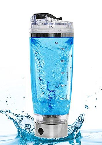 Mixer Plus Drink Mixer – 16,000 rpm USB Rechargeable Protein Shaker Vortex Mixer Blender Bottle with Integrated Supplement Storage Container - Spider Mixer Bottle