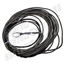 Charcoal AmSteel Blue 55' 1/4 UTV WARN 4.0 Cable Rope Synthetic