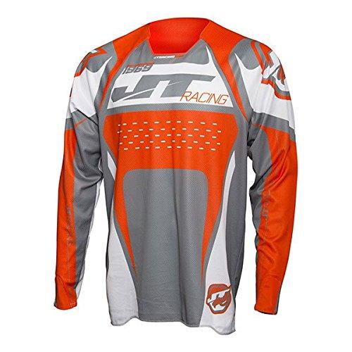 JT Racing Protek Trophy Gray, Orange & White Jersey/Pant Combo - Size: LARGE/32W