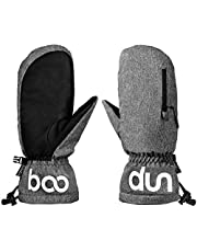 Lixada Winter Ski Snow Mittens -40°F Cold Weather Women Men Water Resistant Touchscreen Warm Gloves for Snowboarding Skiing Outdoor Sports Snowmobile Shoveling Snow Work