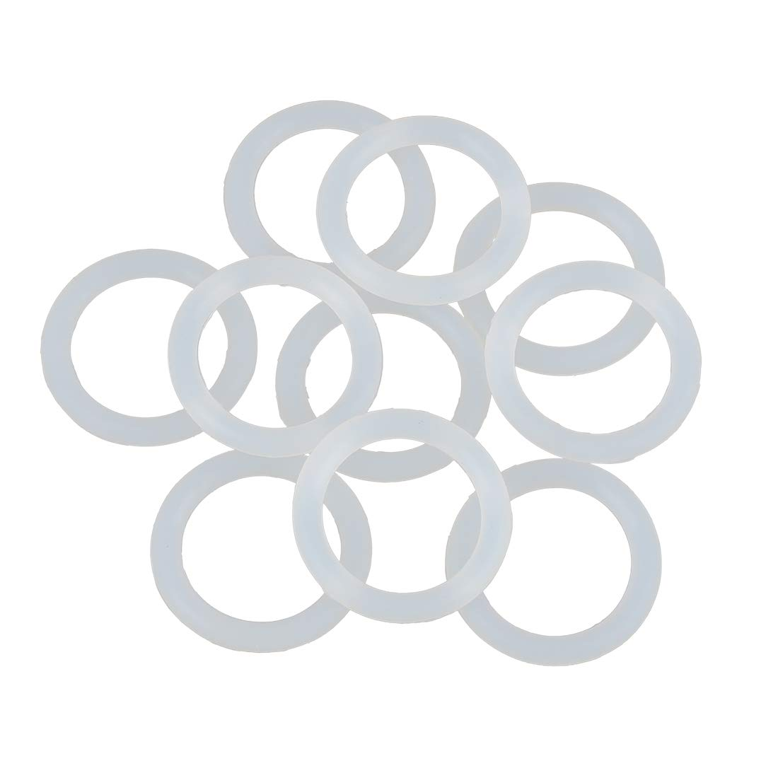 10 Juntas de Junta t/órica de Goma de Silicona Blanca para Coche X AUTOHAUX 29 mm x 4 mm