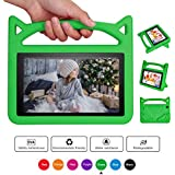 All-New F ire 7 2017 Case,F ire 7 Tablet Case for Kids, Riaour Kids Shock Proof Protective Cover Case for F ire 7 Tablet (2015&2017 Release) (Green)