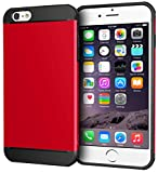 iPhone 6s Plus Case, Apple iPhone 6s Plus, rooCASE [Exec Tough] Slim Fit Case Protective PC / TPU [Corner Protection] Armor Cover Shock Resist Rugged Protective Case for iPhone 6 Plus - Red