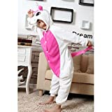 JT-Amigo Kids Unisex Cosplay Pajamas Onesie Costume, Pink Unicorn, 9-11 Years