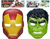 Marvel Avengers Assemble Iron Man Mask & Hulk Hero Mask Bundle