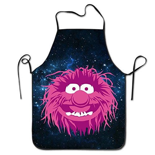 [Unisex Cute Muppets Pink Monse Kitchen Cooking Grilling Apron Neck Straps Without Pockets] (Tangled Costume Ideas)