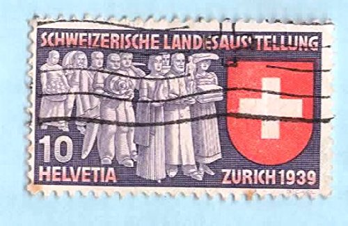 Used Switzerland Postage Stamp (1939) 10c Deputation of Trades - Scott # 250 ()