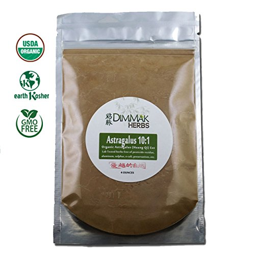 Cheap Organic Astragalus 10:1 Extract Powder 4oz | Huang Qi 10:1 Concentrate Granules | Lab Tested, USDA Organic, No Other Ingredients w Amazing Taste Astragalus Membrane Root 112g