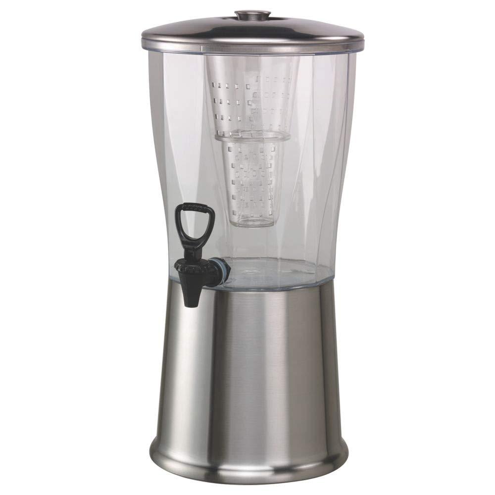 Service Ideas CBDRT3SS Beverage Dispenser, BPA Free, Stainless Steel, Round, 3 gal