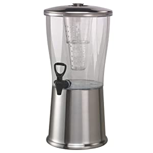 Service Ideas CBDRT3SS Beverage Dispenser, BPA Free, Stainless Steel, Round, 3 gal