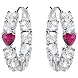 Swarovski Hoop Earrings 5391763 Silver Woman Love
