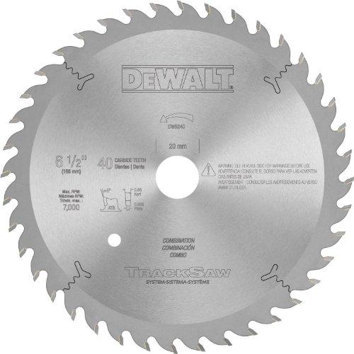 DEWALT DW5240 Heavy Duty Precision Ground Woodworking Blade for Tracksaw System, 40T