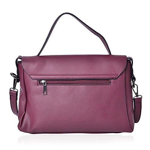 Pink Embellished Bag with 3D Crossbody Adjustable Flowers Shoulder Removable Strap HSwSqz