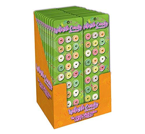 Whistle Candy Fruit Flavored, 1.69 oz. Display of 24 ()