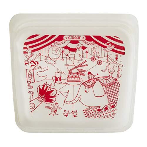 (Stasher Reusable Silicone Food Bag, Sandwich Bag, Snack Bag, Storage Bag, Circus)