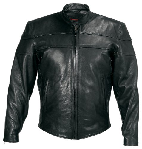 Milwaukee Motorcycle Clothing Company Motorcycle Maverick Jacket (Black, XXX-Large)