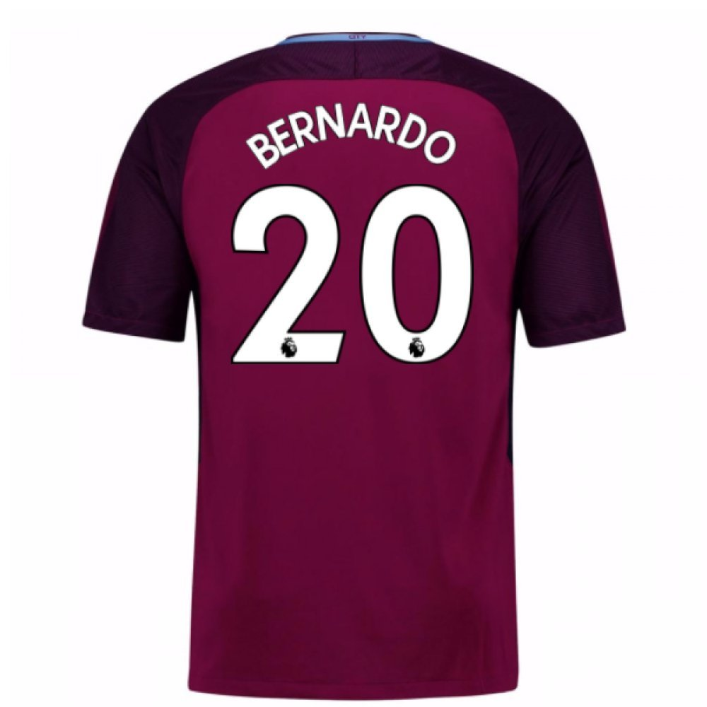 2017-18 Man City Away Football Soccer T-Shirt Trikot (Bernardo Silva 20) - Kids