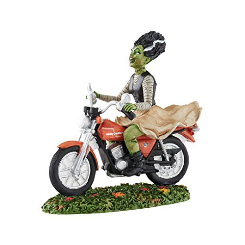 (Department 56 Halloween Village Ride Away Bride on Harley Motorcycle 4051020)