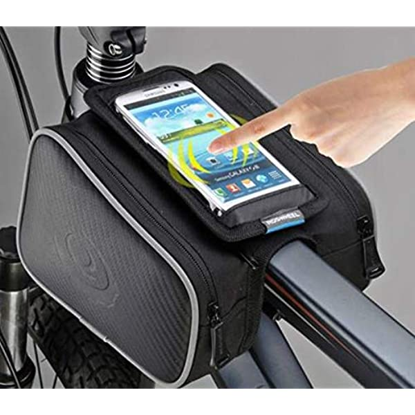 ROSWHEEL Touch Screen Bicycle Cycling Frame Top Tube Bag for 5.7in Phone