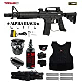 MAddog Tippmann U.S. Army Alpha Black Elite Tactical Starter Protective HPA Paintball Gun Package – Black For Sale