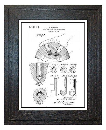 Finger Hole Insert for Bowling Balls Patent Art White Matte