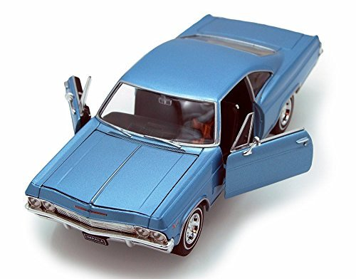 Chevy Impala Models - Welly 1965 Chevy Impala SS396 1/24 Scale Diecast Model Car Blue