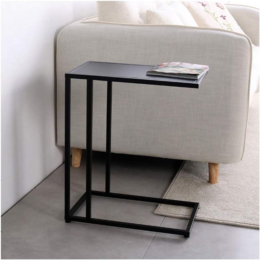 Koop De Nieuwste Mode Moderne Salontafel Eenvoudige Mini Bijzettafel Metalen Salontafel Scandinavische Stijl Creatieve Hoek Frame Goud 48X28X58CM 4.13 (Color : Black) Black gOLSd2W