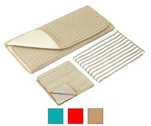 DecorRack Dish Drying Mat Set of Microfiber Draining Mat 15