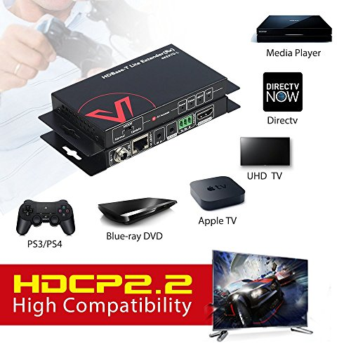 AV Access HDMI Extender(HDBaseT),Uncompressed 4K 60Hz over Single Cat5e/6a, 70m(230ft)1080P,40m(130ft)4K,PoE+IR+RS232+HDCP2.2,HDR & Dobly Vision,Dolby Atmos & DTS:X by AV Access (Image #1)