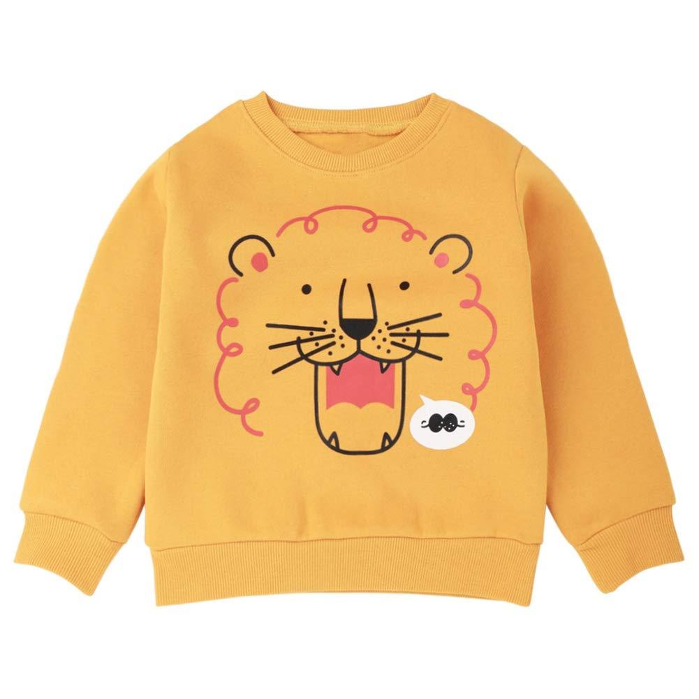 Urmagic Kids Baby Boys Long Sleeve Dinosaure Sweatshirt Pullover Tops Cool Animal Winter Warm Sweatshirt Clothes 2-7 Year Old
