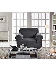 غطاء اريكة لمقعد واحد، لون رمادي