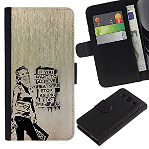 Leather Etui en cuir || Samsung Galaxy S3 III I9300 || Banksy Graffity @XPTECH