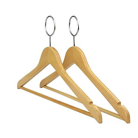 Amazon.com: Xyijia - Percha de madera antirrobo para uso en ...