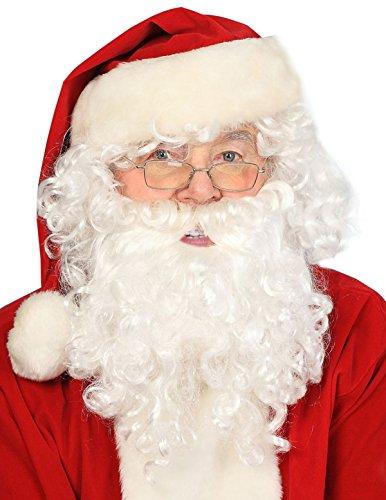 Santa Beard And Wig Set (Deluxe Santa Beard and Wig Set Santa Wig and Beard Set Santa Claus Beard and Wig)