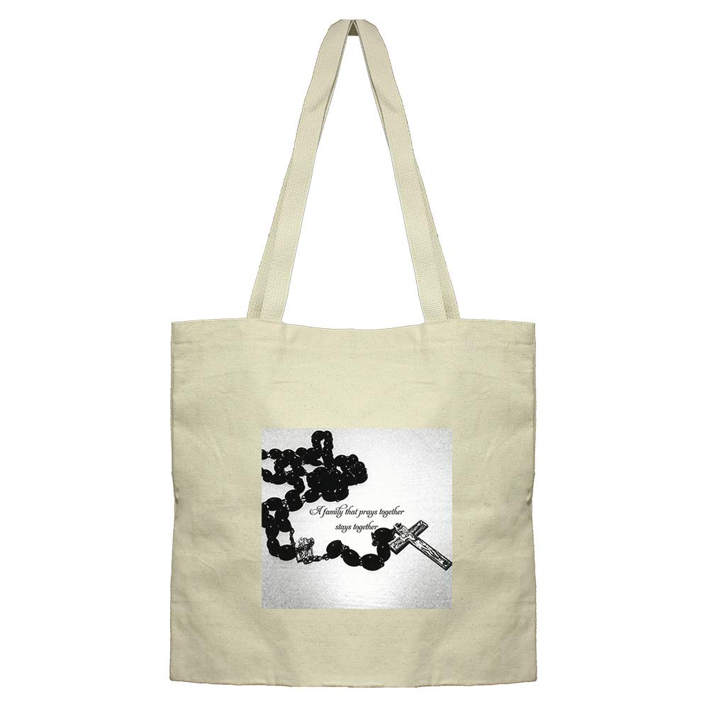 A Family That Prays Together And Stays Together Cotton Canvas Flat Market Tote